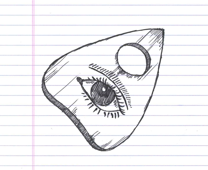 """Planchette. Doodle by @andrescalo."