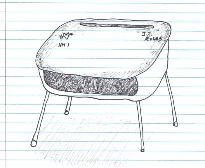 """J.T. Rules."" Doodle by me."