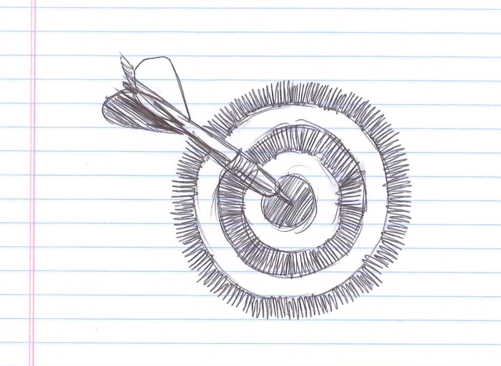 """Target."" Doodle by @andrescalo."