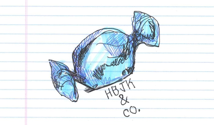 """Candy."" Doodle & secret message by @andrescalo."