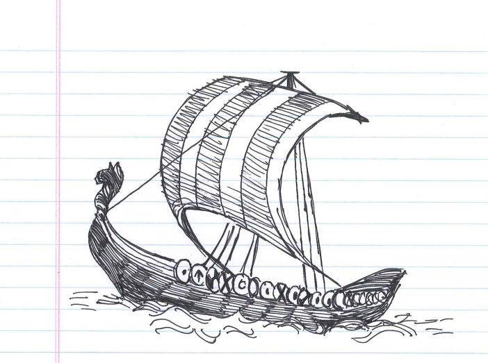 """Seafaring vessel."" Doodle by @andrescalo."