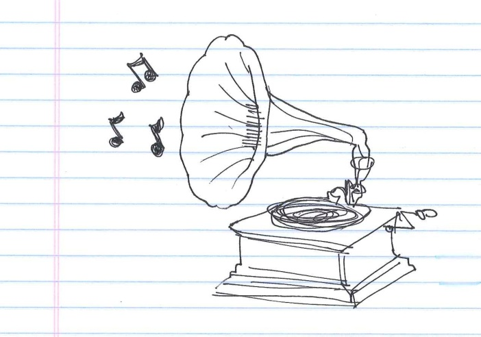 """Gramophone."" Doodle by @andrescalo."