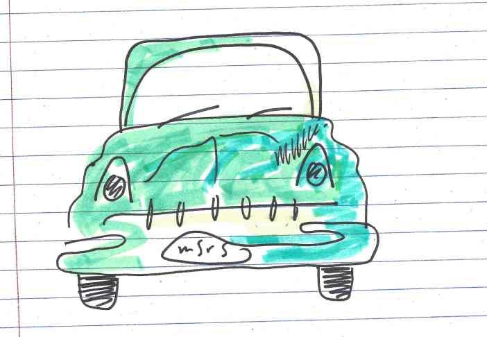 """Big goddamn car."" Doodle by me."