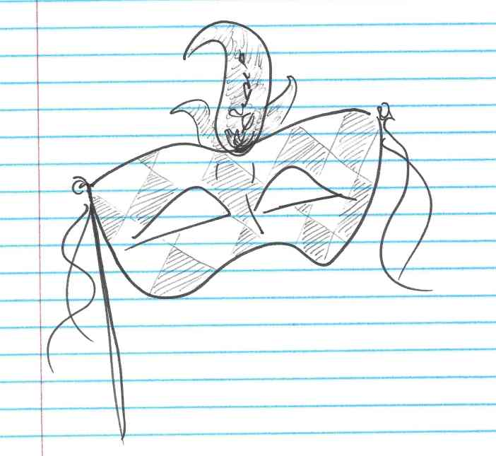 """""""Mardi Gras."""" Doodle by me."""