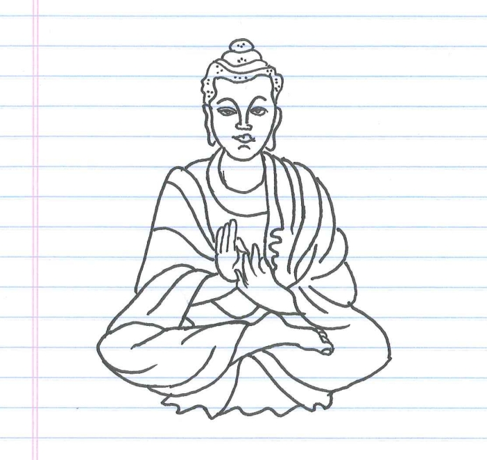 """Buddha."" Doodle by @andrescalo."