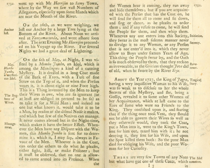 More description of the Mumbo-Jumbo's ritual from Moore. Screenshot from the Open Library.