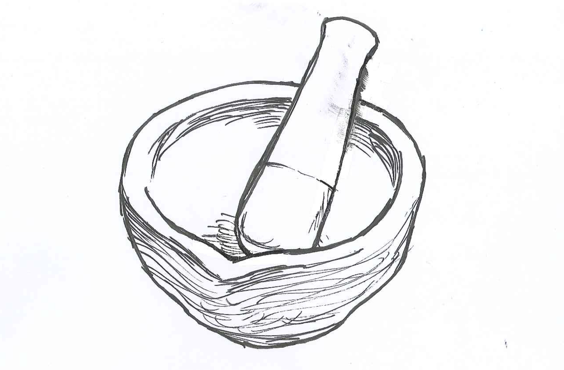 Stampede – Mashed Radish for Mortar And Pestle Drawing  539wja