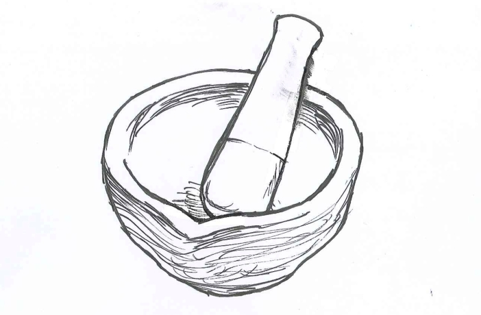 Mortar and Pestle_Ink on Paper_doodle