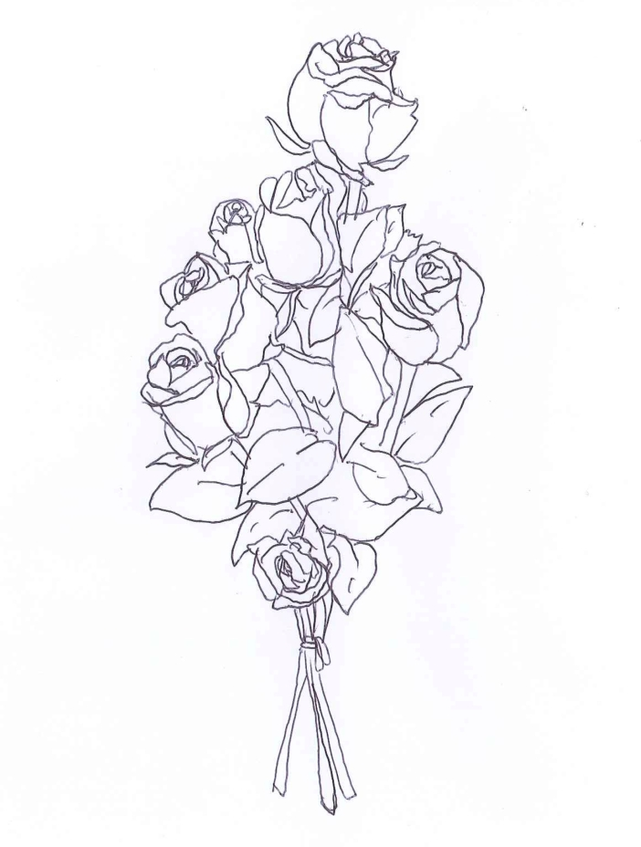 """Roses"" Ball point pen on paper. Doodle by @andrescalo."
