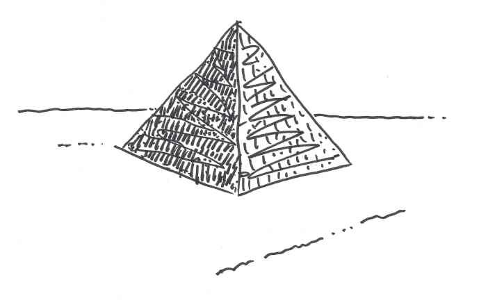"""Pyramid."" Doodle by me."